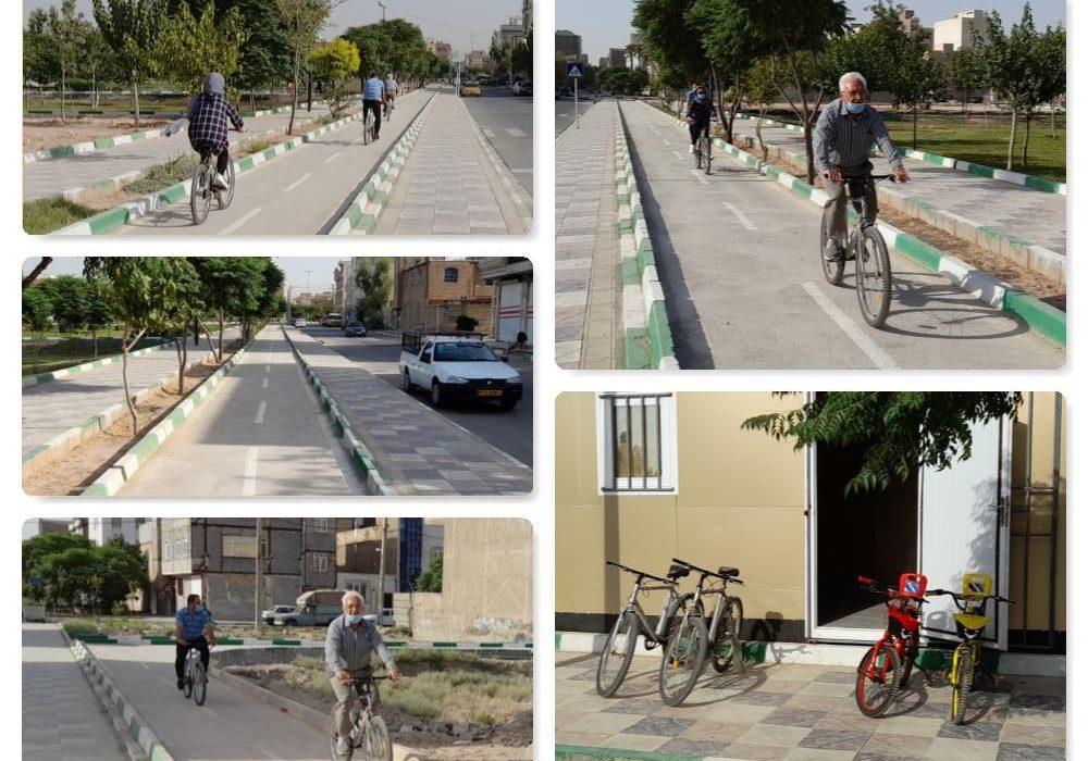 راه اندازی دومین ایستگاه دوچرخه در پارک خیام قرچک